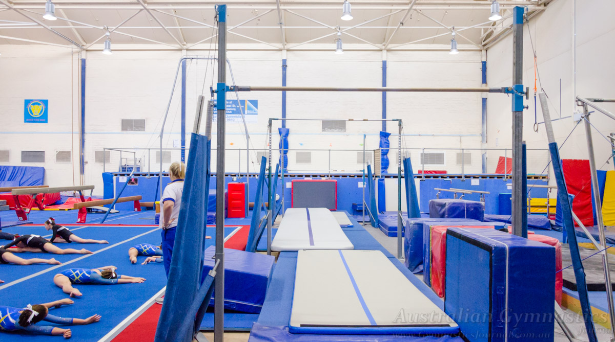 The Australian Gymnastics Coach and Competition - The YMCA Geelong arena gymnastics club.